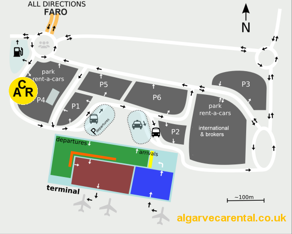 Faro airport delivery car park 4