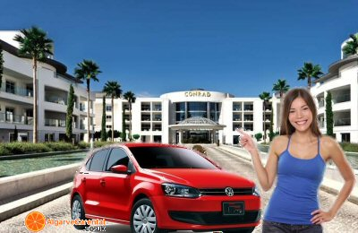 algarve car rental deliver to accommodation hotel, villa or resort in algarve